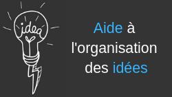 Aide à l'organisation des idées – Cartes heuristiques